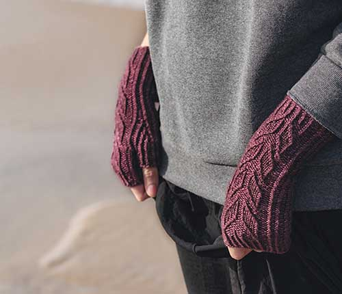 Caswell Bay Fingerless Mitts